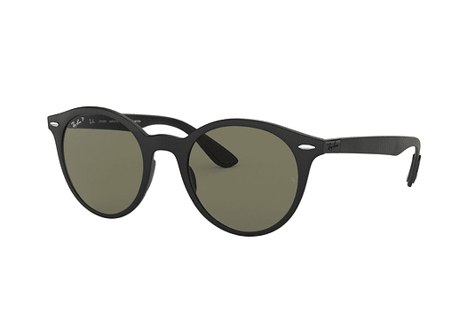 Ray Ban Round RB4296 Matte Black lente Green Polarized cod. RB4296 601S9A 51