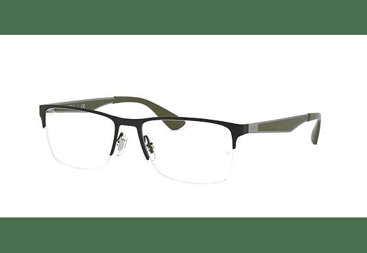 Armazón óptico Ray Ban Metal RX6335 Black cod. RX6335 3010 54