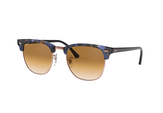 Ray Ban Clubmaster Spotted Brown/Blue lente Clear Gradient Brown cod. RB3016 125651 51
