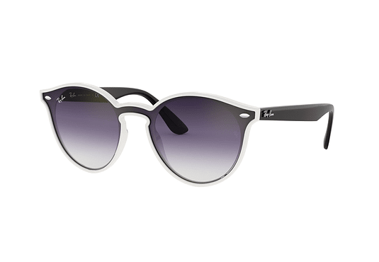 Ray Ban Round RB4380N Blaze White Demishiny lente Clear Gradient Violet cod. RB4380N 64160U 37