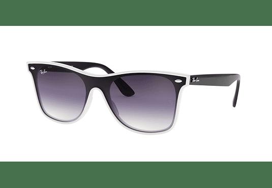 Ray Ban Wayfarer RB4440N Blaze White Demishiny lente Clear Gradient Violet cod. RB4440N 64160U 41