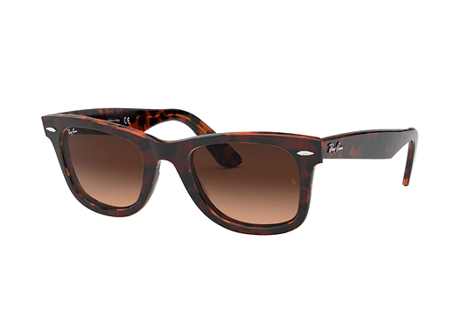 Ray Ban Wayfarer Red/Orange Havana lente Pink Gradient Brown cod. RB2140 1275A5 50
