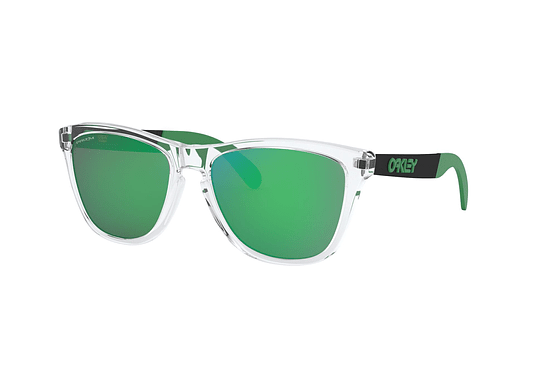 Oakley Frogskins Mix Polished Clear lente Jade PRIZM cod. OO9428-0455