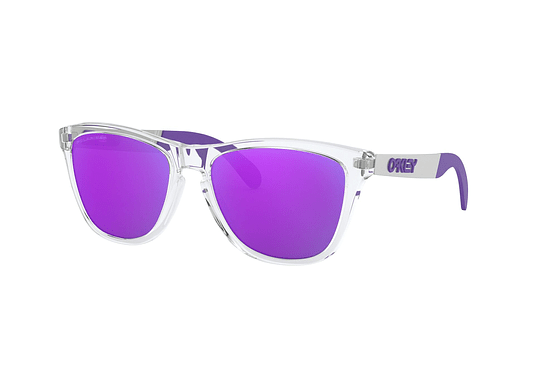 Oakley Frogskins Mix Polished Clear lente Violet Iridium Polarized cod. OO9428-0655