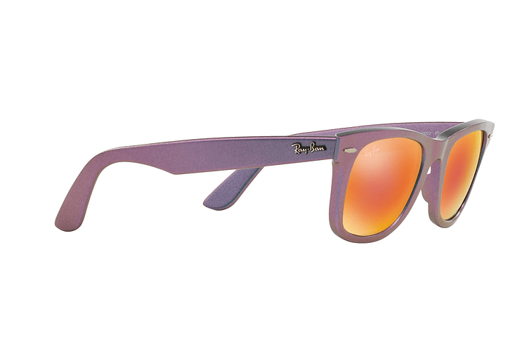 Ray Ban Wayfarer Metallic Oil lente Orange Mirror cod. RB2140 611169 50 - Image 10