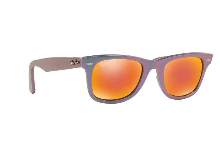 Ray Ban Wayfarer Metallic Oil lente Orange Mirror cod. RB2140 611169 50 - Image 11