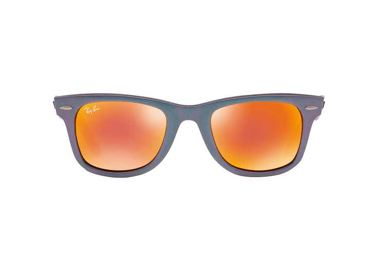 Ray Ban Wayfarer Metallic Oil lente Orange Mirror cod. RB2140 611169 50 - Image 12