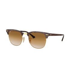 Ray-Ban Clubmaster Metal Gold Top Havana lente Clear Gradient Brown cod. RB3716 900851 51