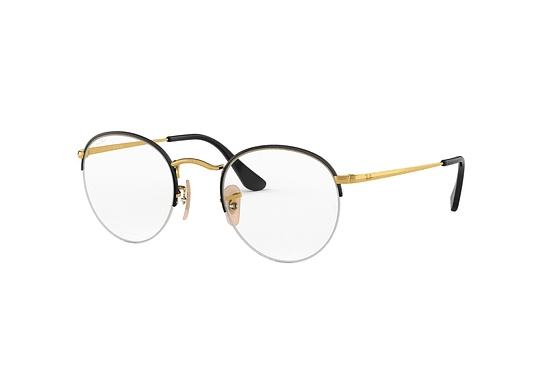 de03c5069a Armazón óptico Ray-Ban Round Gaze Gold On Top Black cod. RX3947V 2946 48