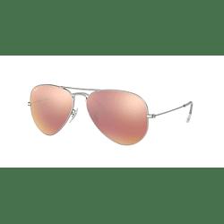 Ray-Ban Aviador Matte Silver lente Brown Mirror Pink cod. RB3025 019/Z2 58