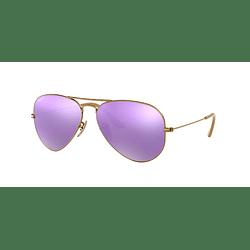 Ray-Ban Aviador Brushed Bronze lente Mirror Lilac Polarized cod. RB3025 167/1R 58