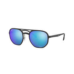 Ray-Ban Aviador RB4321-CH Matte Black lente Chromance Blue Mirror Polarized cod. RB4321CH 601SA1 53