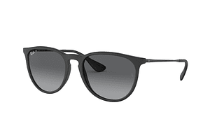 Ray-Ban Erika Black Rubber lente Grey Gradient Polarized cod. RB4171 622/T3 54