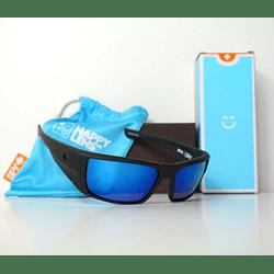 SPY Dirk Negro Opaco lente Azul Espejado cod. s.648478747364