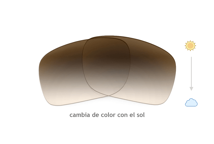 Cristales progresivos (superior) transition café