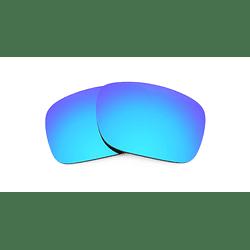 Cristales monofocales (superior) polarizados azul espejo - marcos lentes de sol