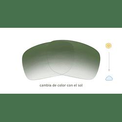 Cristales monofocales (superior) transition verde - marcos lentes de sol