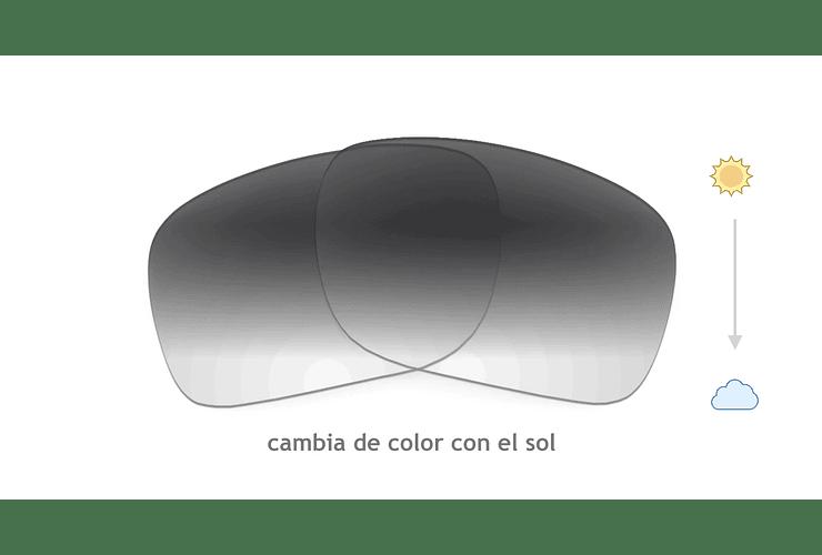 Cristales monofocales (superior) transition gris - marcos lentes de sol