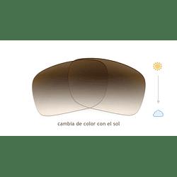 Cristales progresivos (superior) transition café - marcos lentes de sol