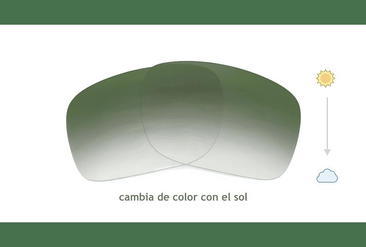 Lente Monofocal Superior Luz azul Fotocromático Verde oscuro