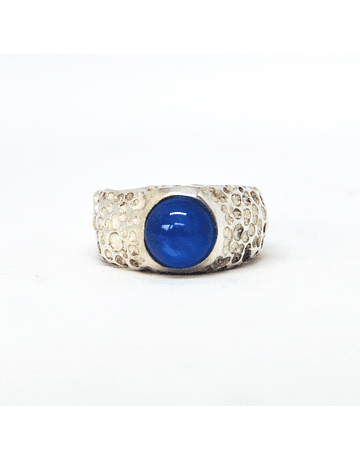 Blue agate ring
