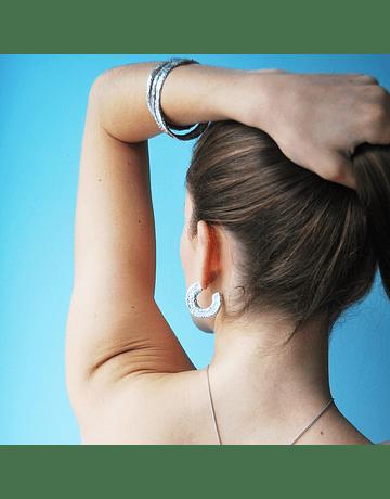 3/4 textured earrings