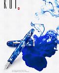 Pluma Penlux Koi- Azul & Blanco - Como el Pez KOI