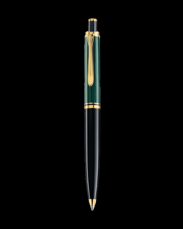 Bolígrafo Souveran K 600 - Negro / Verde y Dorado