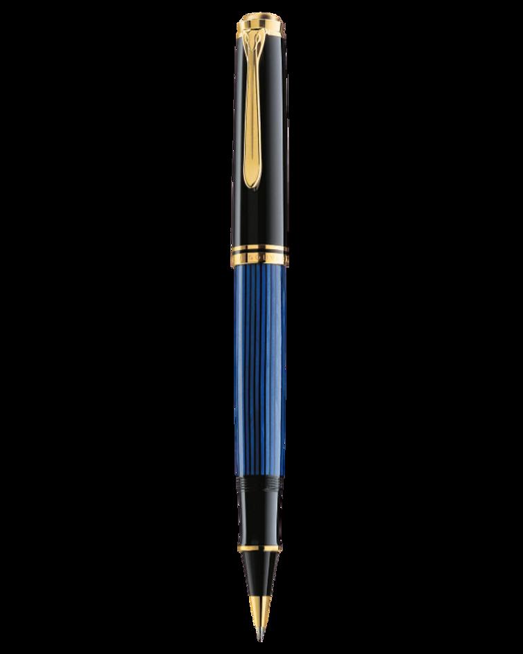 Roller Ball Souveran R 600 Negro - Azul y Dorado