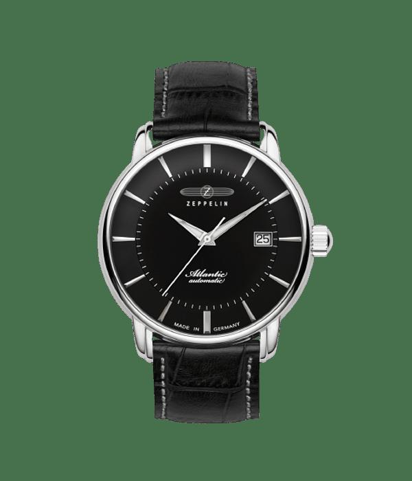 Reloj Zeppelin Automático Clásico - Cristal Zafiro - Fechador - Elegante - Negro