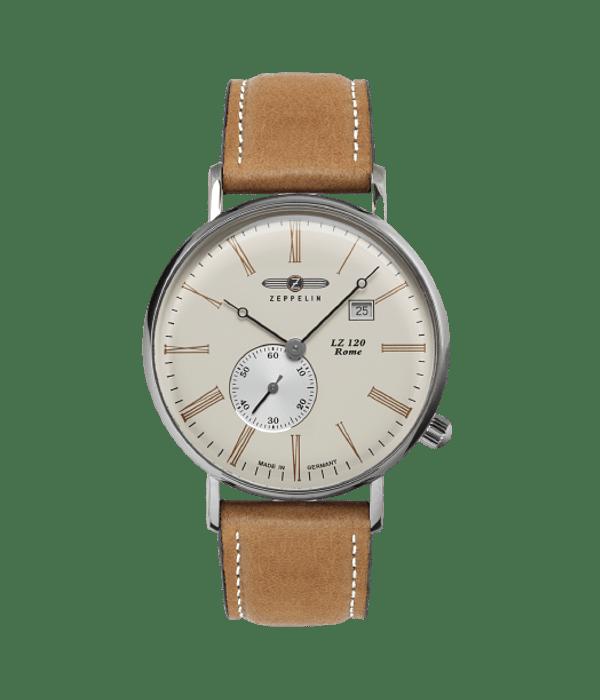 Reloj Zeppelin Cuarzo Suizo Small Segundero Beige