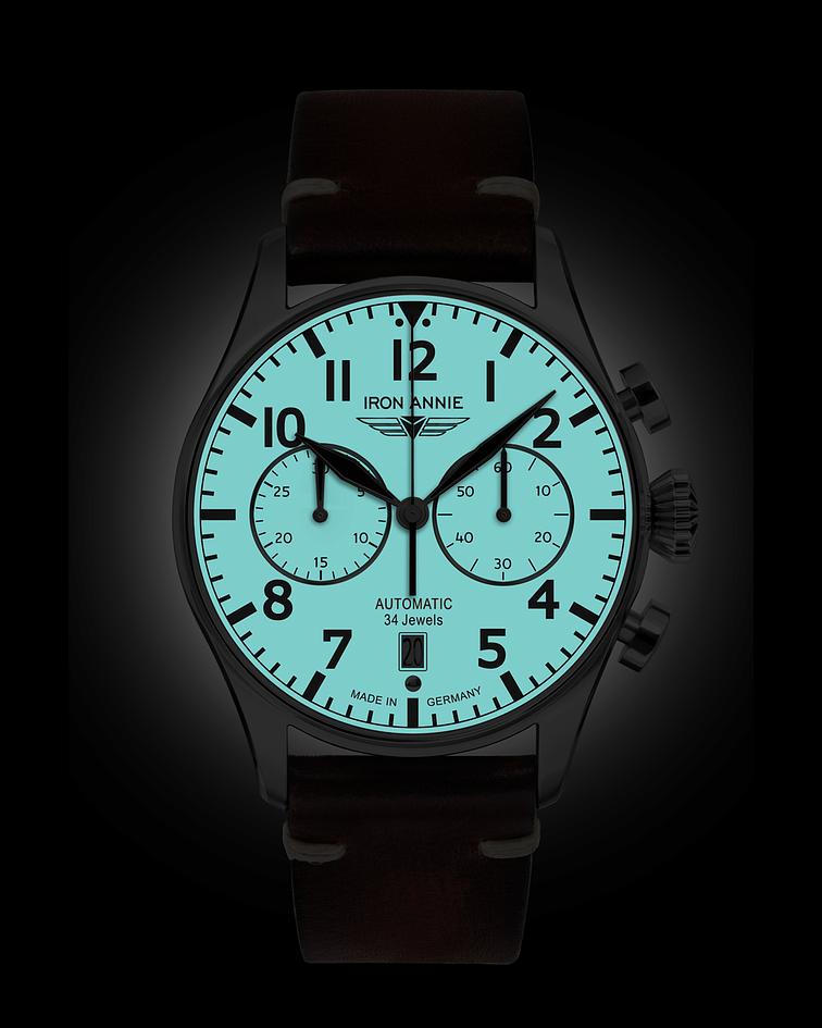 Reloj Iron Annie Cronógrafo Automático Aleman - Piloto