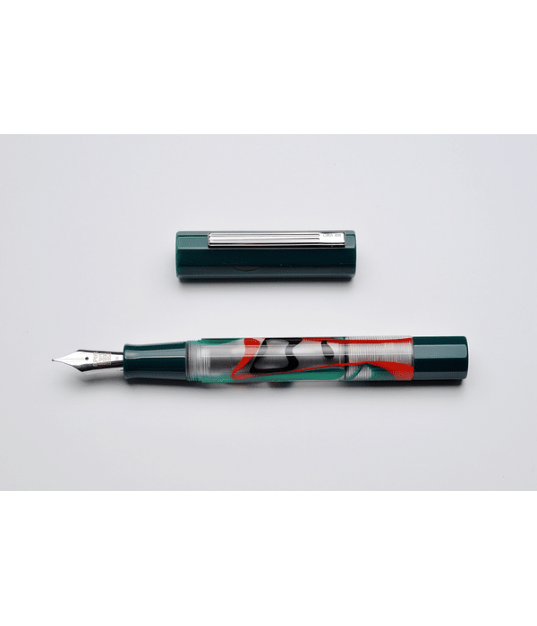 Pluma Opus 88 Flow Green - Gran Tamaño - Plumin Aleman