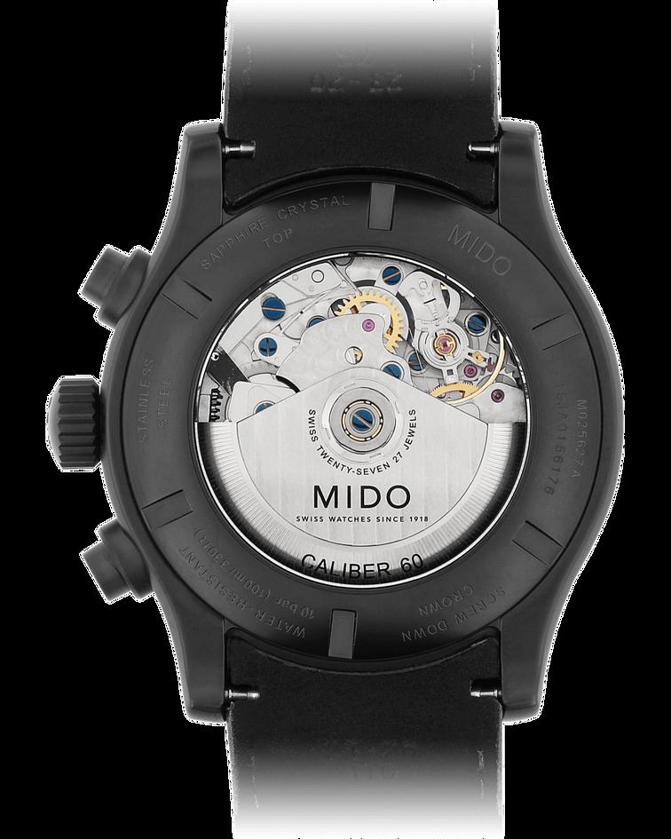 Reloj Mido Multifort Cronografo Automático Suizo - 60 horas Reserva de Marcha