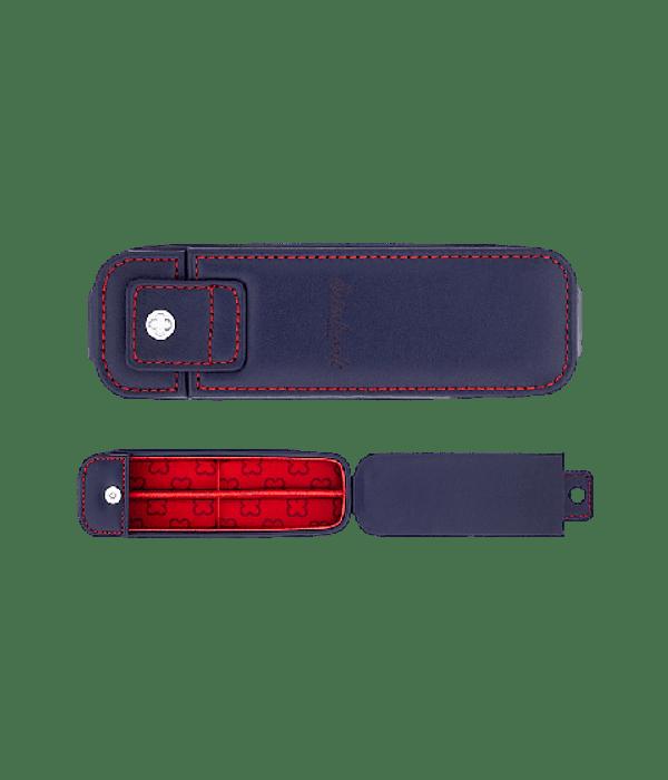 Esterbrook NOOK - Estuche Doble para Lápiz o Pluma Azul e Interior Rojo