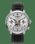 Reloj Zeppelin Cuarzo Suizo - Fase Lunar - Esfera Blanca