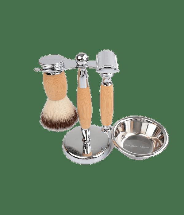Set de afeitado de Bamboo ( Razor / Soporte / Bowl / Hisopo )
