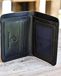 Billetera de Cuero Negro de Maxima Calidad  - Diseño Vertical