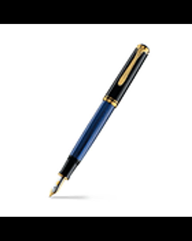 Pluma Souveran M 400 / Negro -Azul y Dorado
