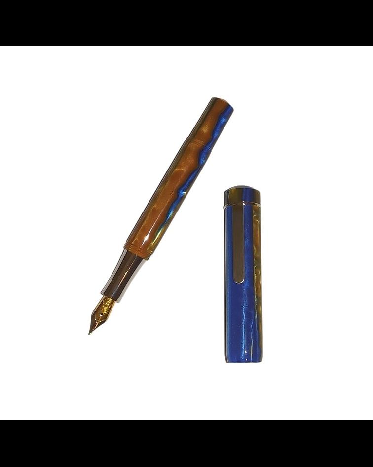 Pluma Laban de Bolsillo color azul y tonos amarillos