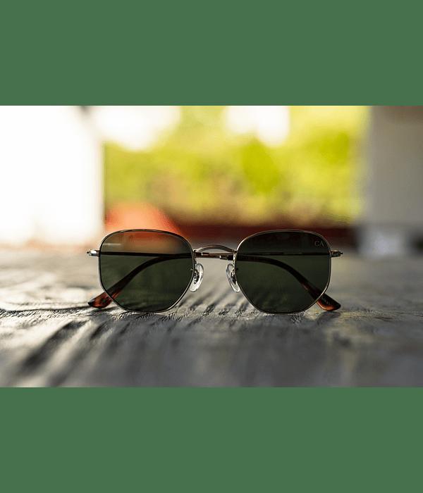 Anteojos Caballero Armado Vintage - Verde Dorado