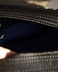 Neceser de cuero negro entrelazado de máxima calidad  - Caballero Armado
