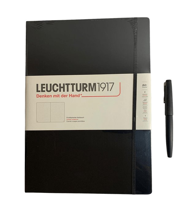 Leuchtturm - Libreta A4+ Master Slim Punteada - Negra