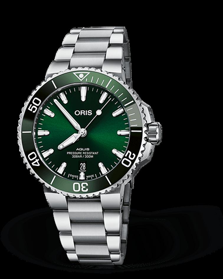 Reloj Oris Aquis Date Automatico 41,4 mm / 300 metros resistente al agua
