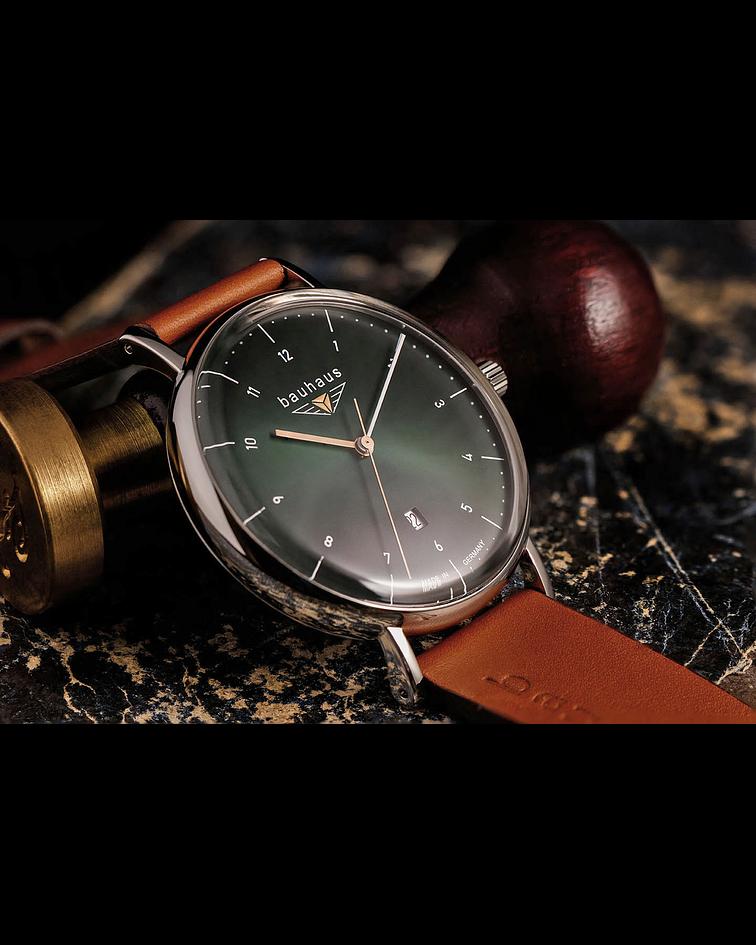 Reloj Bauhaus Cuarzo Esfera verde - Hecho en Alemania