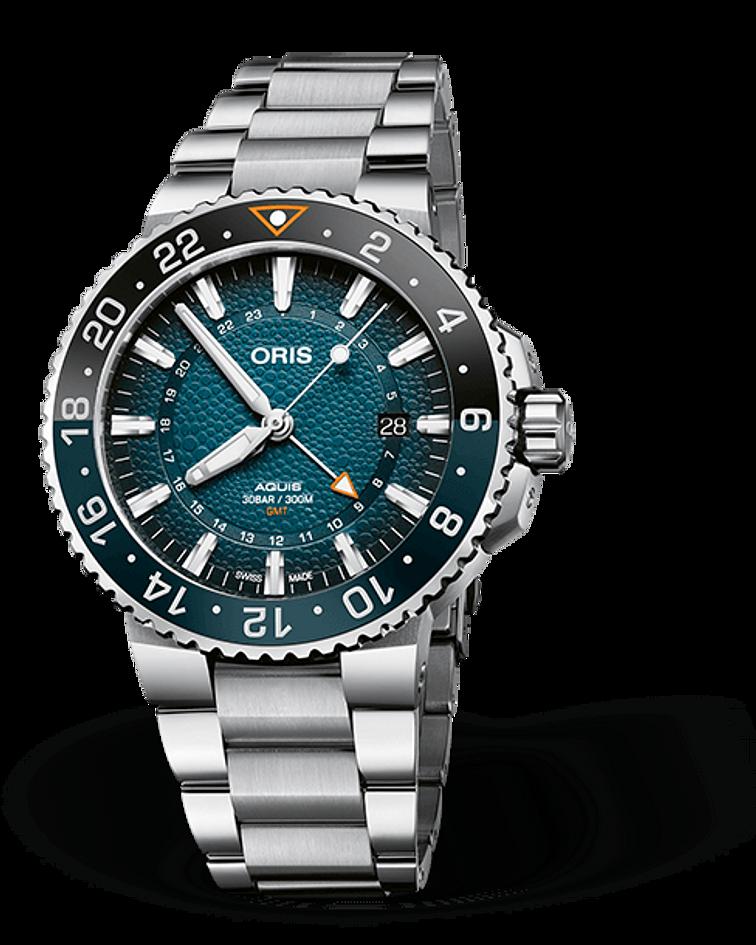 Reloj Oris Aquis Whale Shark Automatico GMT Edición Limitada