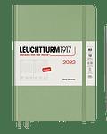 Agenda Leuchtturm 2022 Mediana Día por pág Tapa Dura 12M - Sage