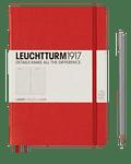 Libreta Leuchtturm Mediana Tapa Dura Composición Roja