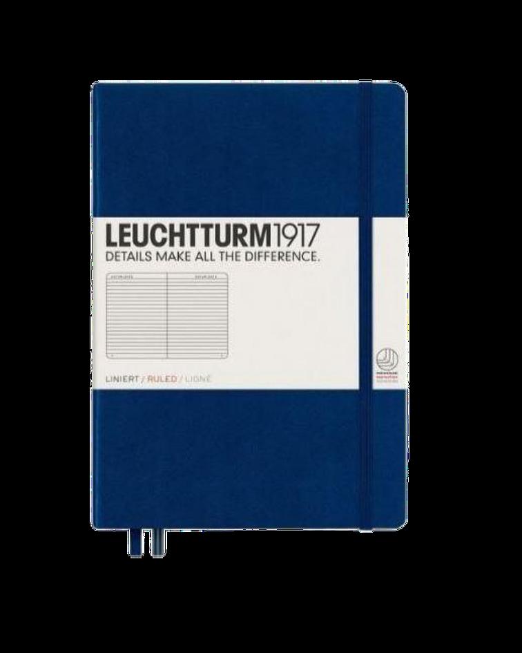 Libreta Leuchtturm Mediana Composición Azul Marino