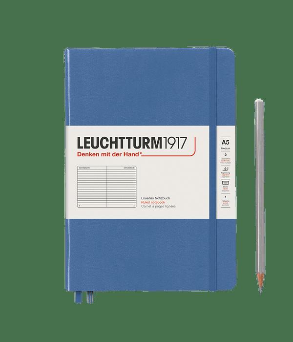 Libreta Leuchtturm Mediana Tapa Dura Composición - Denim
